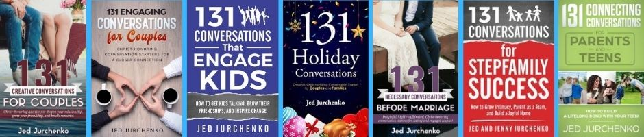 Conversation Starters Books by Jed Jurchenko filled with great questions to ask.
