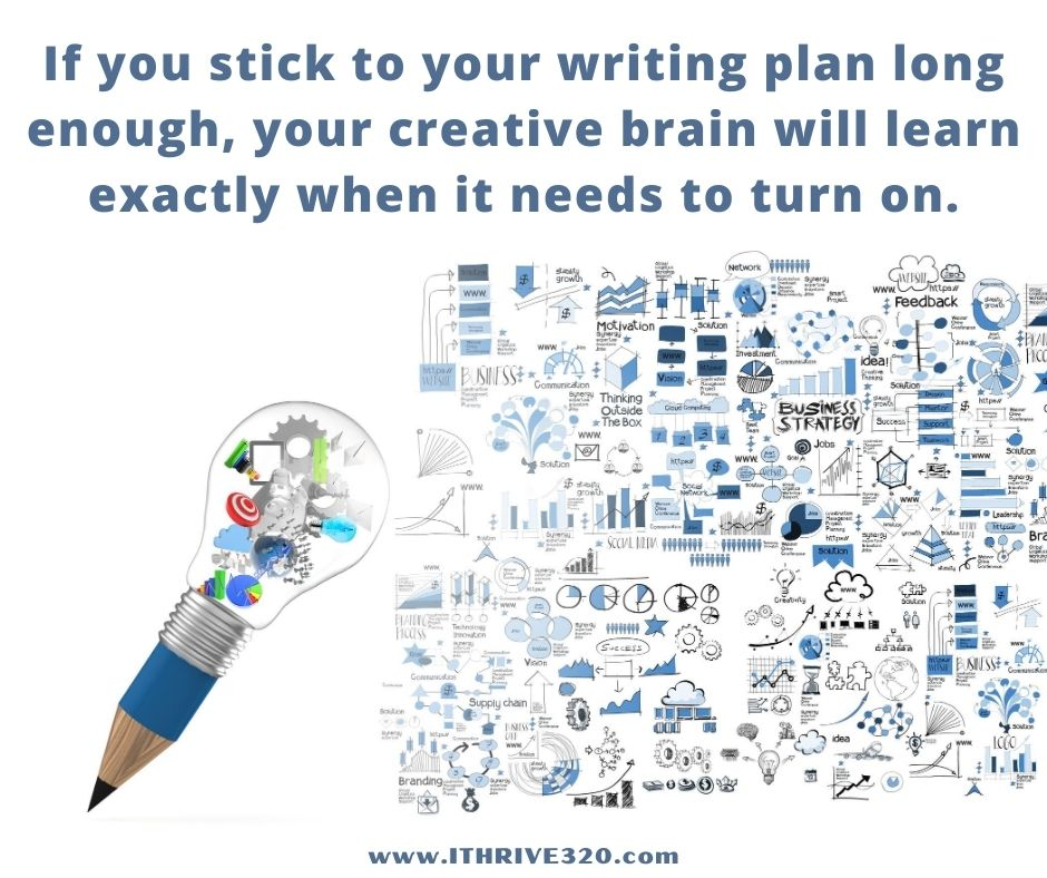 A writing plan inspires creativity