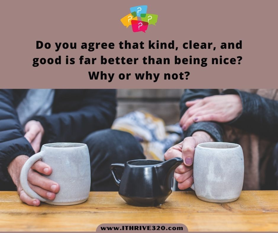 Conversation starters about being kind vs. nice