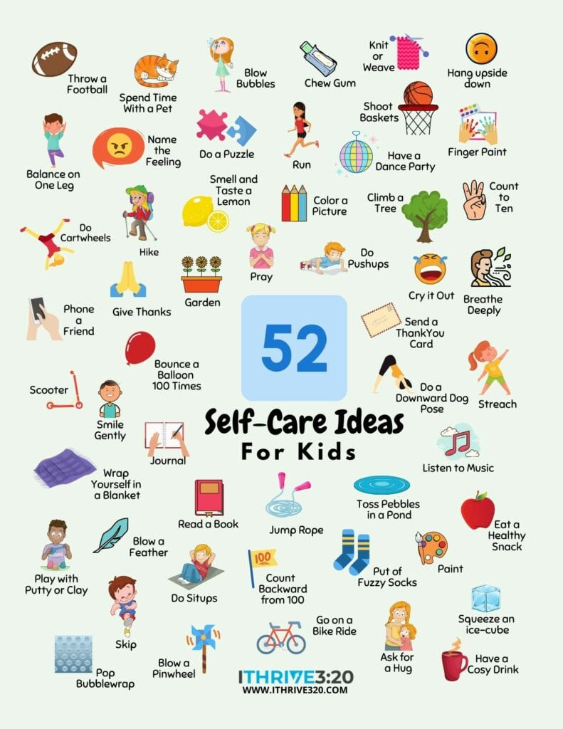 52 Ideas for Self-Care Printable