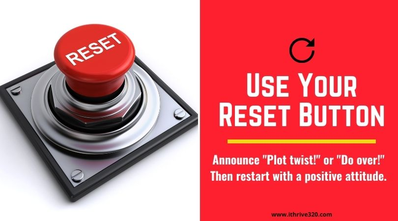 Reset Button Self-Care Idea