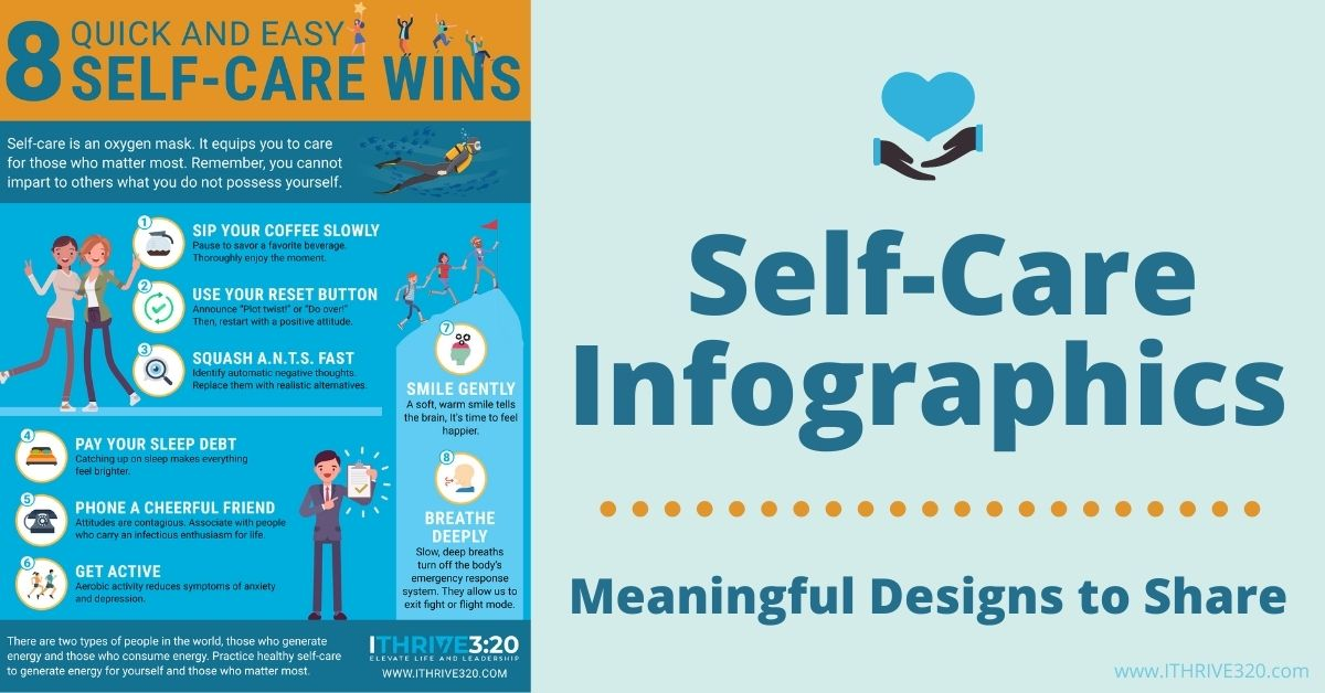 Self-Care Infographics for Your Website